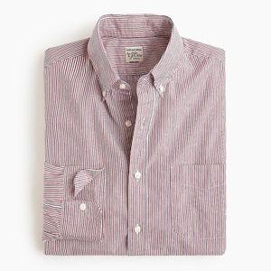 New J Crew Slim Secret Wash Trifecta Stripe Shirt